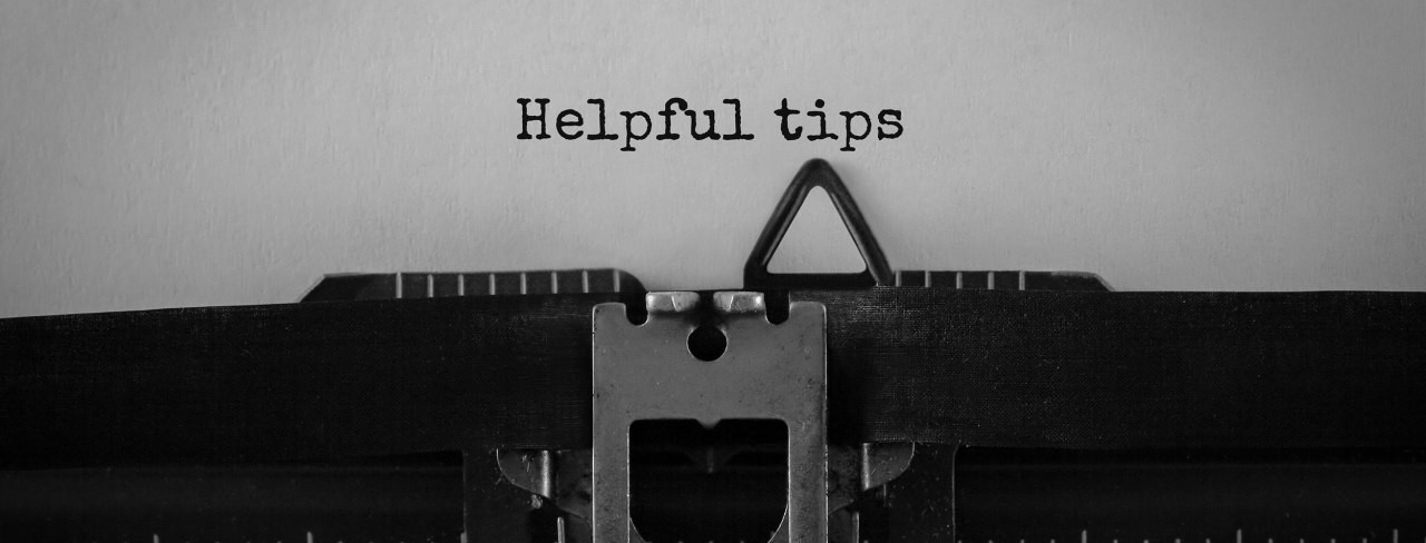>typewriter typing out tips for buyers