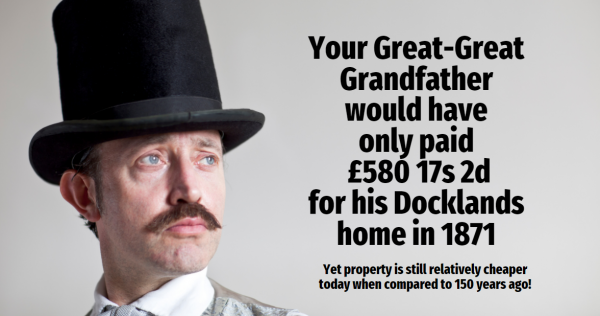 Your Great-Great Docklands Grandfather Would Have Only Paid £580 17s 2d for His