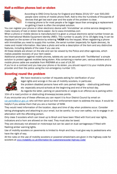 EAST PRESTON AND KINGSTON NEIGHBOURHOOD WATCH NEWSLETTER APRIL MAY 2017