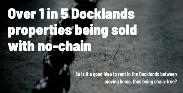 1 in 5 Docklands Properties Being Sold with No Chain