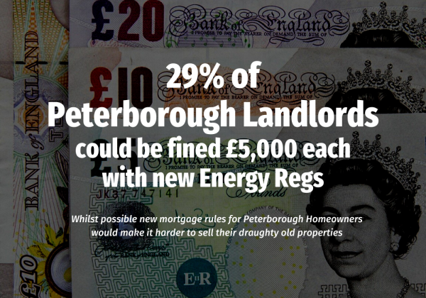 29% of Peterborough Landlords Could be Fined £5,000 each with New Energy Regs