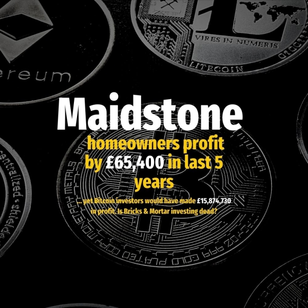 Maidstone Homeowners Profit By £65,400 in Last 5 Years