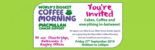 The World's Biggest Coffee Morning... and you're invited!