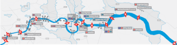 Plans for 13 new London bridges and tunnels.This must be exciting news for the D