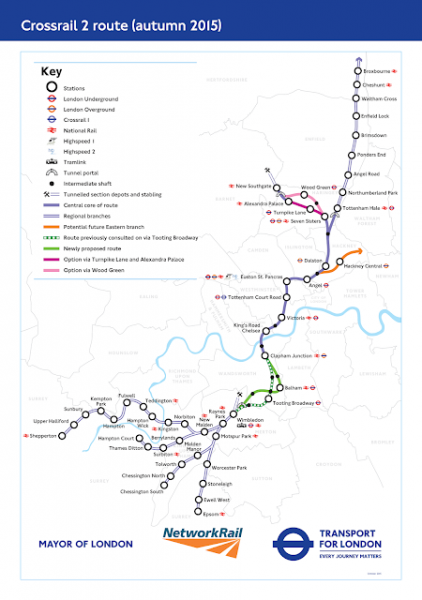 Crossrail 2 and the Canary Wharf property market.