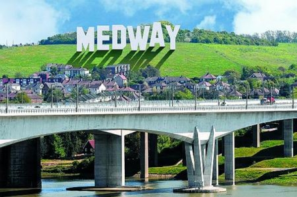 Which Medway property has out-performed the UK market average by 21%?
