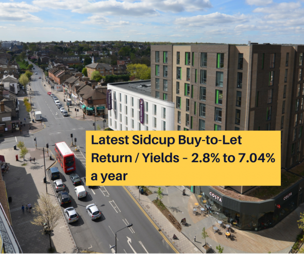 Latest Sidcup Buy-to-Let Return / Yields – 2.8% to 7.04% a year