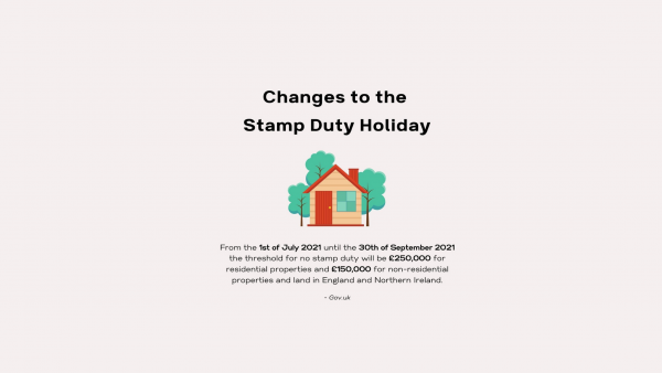 Changes to the Stamp Duty Holiday