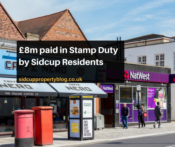 £8m paid in Stamp Duty by Sidcup Residents