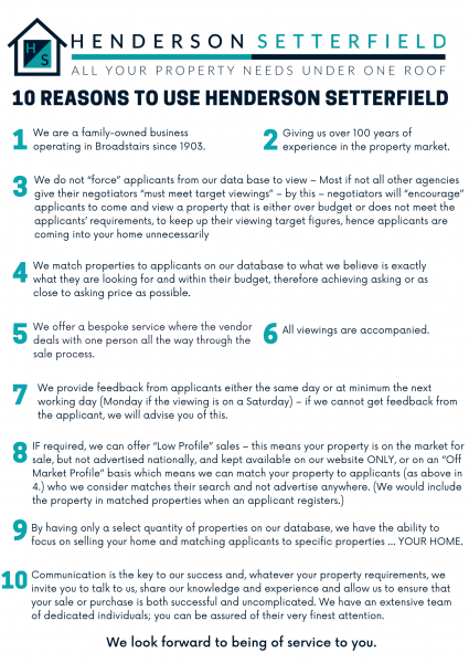 Why use Henderson Setterfield?