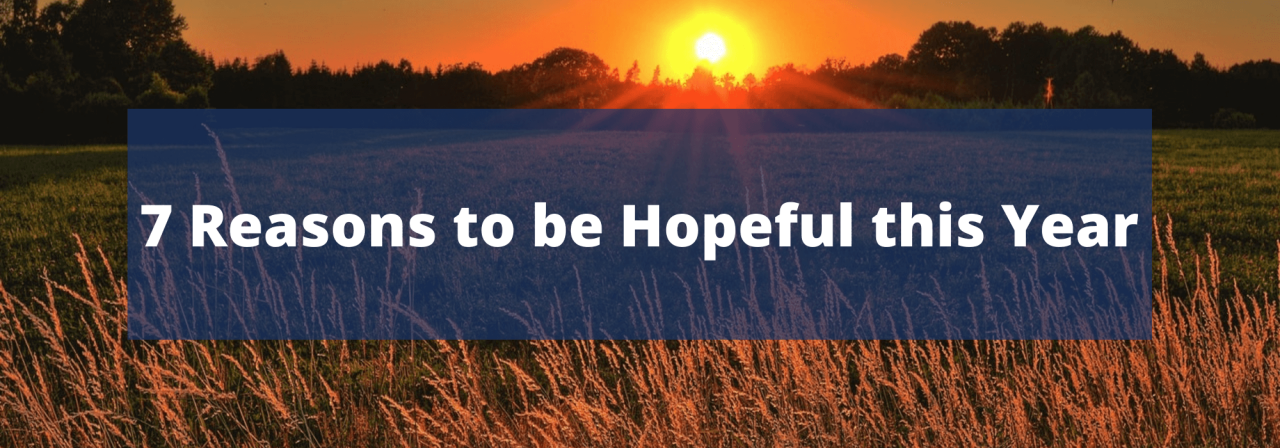 >7 Reasons to be Hopeful this Year