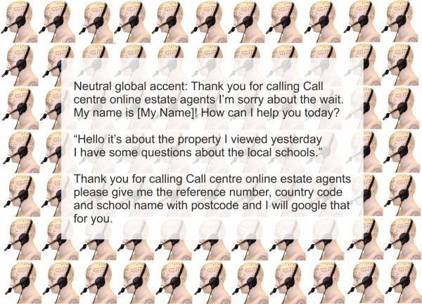 Call centre estate agents